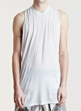 Rick cotton sleeveless T-shirt