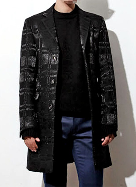 (50% off) RD Mark Renton Black shinny coat