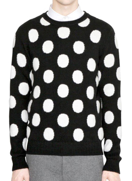 (Restock)RD Polka dot crew neck sweater