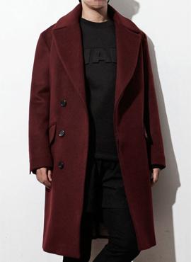 RD Oblique line wine coat