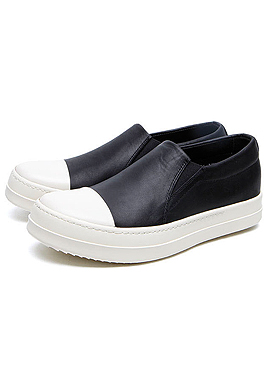 (Restock) Leather slip on(Calf/Cracked Leather)