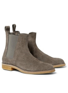 (Restock) RD B.chelsea boots (gray/camel)
