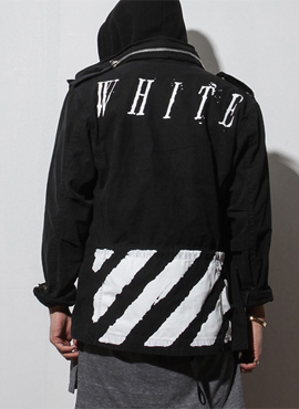 15ss printed field jacket (Black)