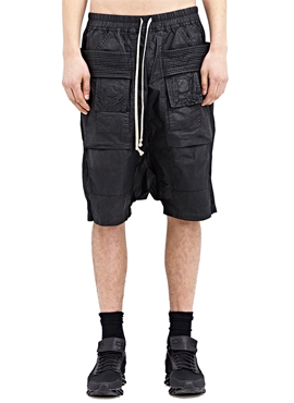 R. coated baggy shorts
