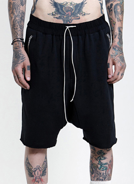 (Restock) RD F.essential half sweatpants(Black/Khaki)