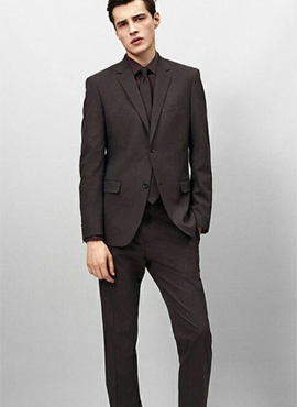 RD T. Black wool suit