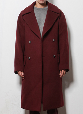 RD Wine semi-oversized coat