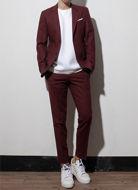 (Restock) RD  N.wool wine suit