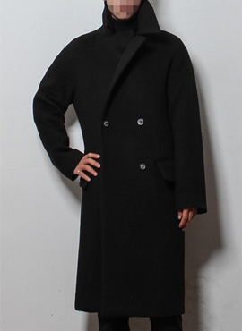 (Restock) Black semi-oversized coat