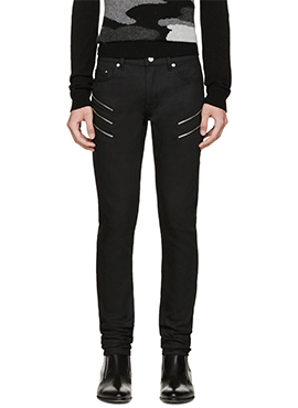 15FW SLP Zipper Pocket Black Jeans