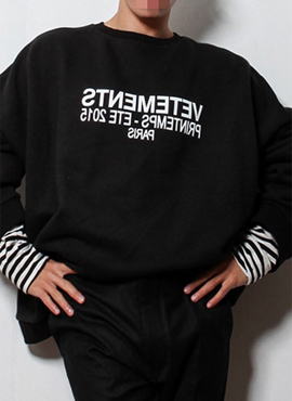 RD V.super-oversized sweatshirt(Black/gray)