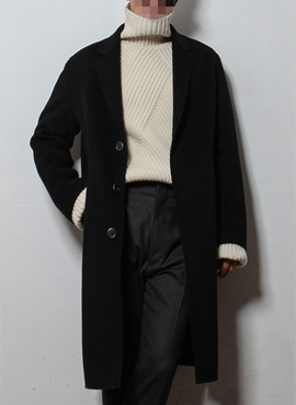 RD New cashmere handmade coat