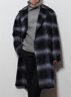 (50% off) RD Mark Renton Mohair check coat (japanese fabric)