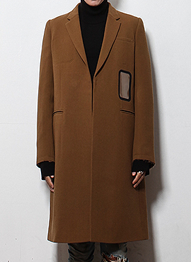 Handprinting camel coat