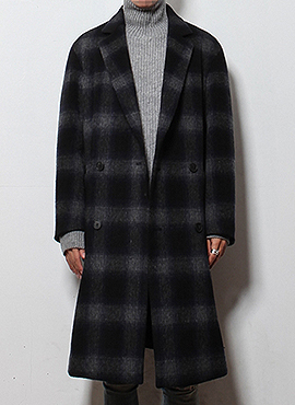 (50% off) RD Mark Renton check double coat