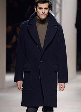 Oblique line cashmerecoat