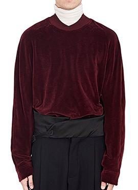 RD H. Velvet Sweatshirt (Wine)