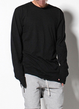 RD F.layered long-sleeved T-shirt Ver (Black/Grey)