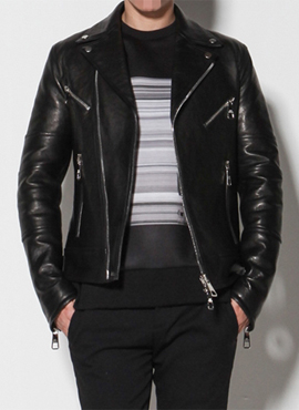 Neil Star Leather Jacket