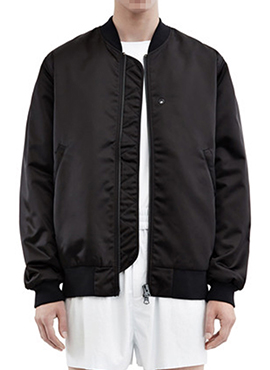 (30% off) RD Selo Satin Bomber (Black / Khaki)