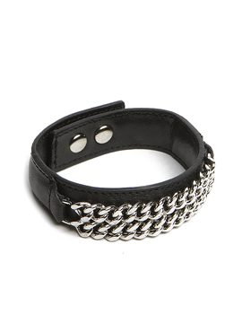 S. Leather Chain Bracelet