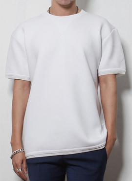 (Restock) RD B. over fit neopren t-shirts (2color)