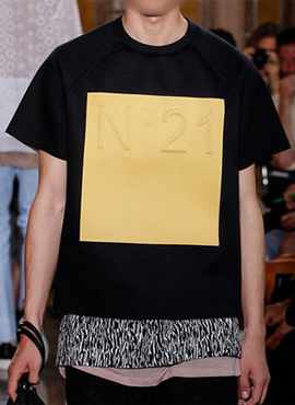 No.21 Neoprene T shirt