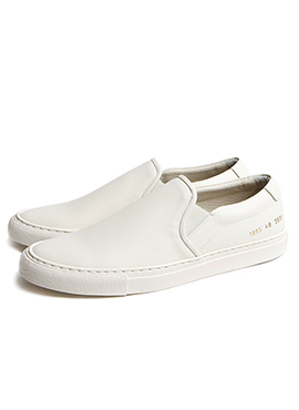 CP slip-on cream leather