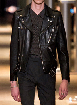 (Restock) S. Zipped Black Leather Biker Jacket