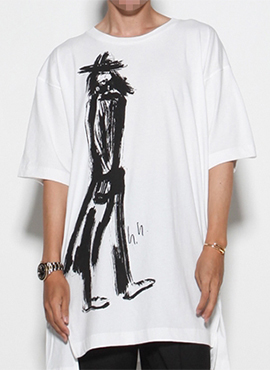 Y3 Yohji  Printing Designer (Black / White)