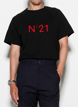 RD No.21 Embroidery T-shirts (black / white)