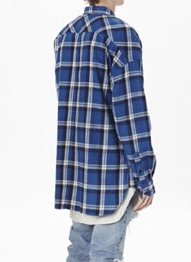 (Restock) RD F.4th long sleeve blue flannel shirts