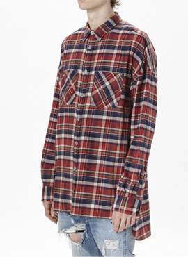 (Restock) RD F.4th long sleeve red flannel shirts