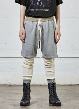 FOG Track half pants (Grey/Black)