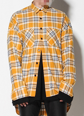 (Restock) RD F.4th long sleeve yellow flannel shirts
