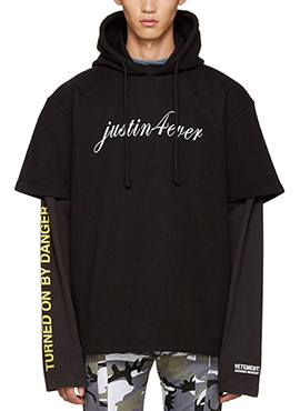 (30% off)  RD V.Double layered sleeve hoodie