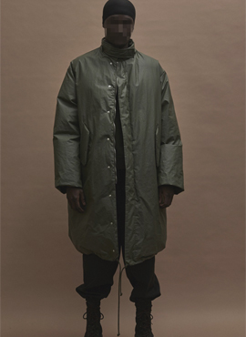 Y. Season3  Long Duckdown Coat (Khaki/Chocolate)