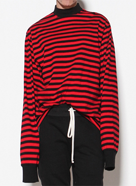 (Restock) FOG Oversized Red Stripe Highneck T-shirt