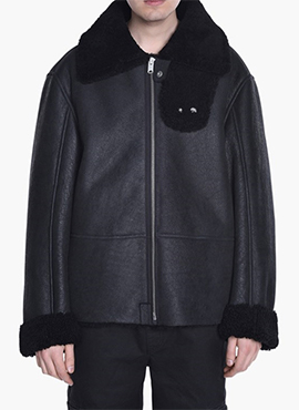 RD Y.Black Shearling Coat