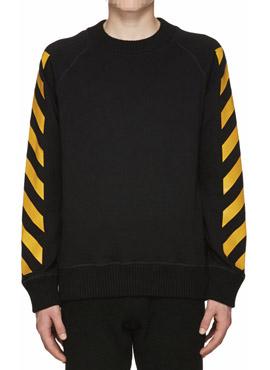M. Black Striped Sweatshirt