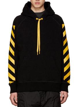 M. Black Striped Hoodie