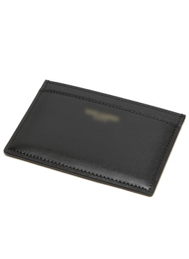 S. black calf leather cardholder