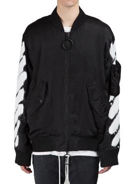 RD OW. c/o virgil abloh black bomber jacket