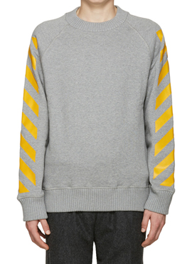 M x OW Grey Striped Sweatshirt