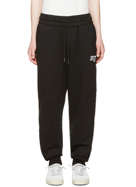 OW. Lettering Training Pants Black
