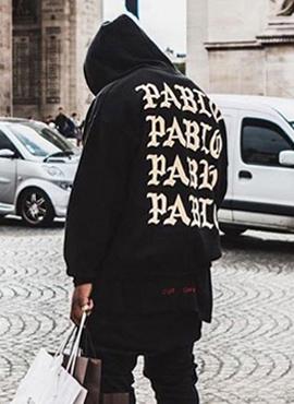 Kanye Paris Pablo Hoodie (2color)