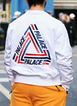 PALACE TRI-CRIB Crew Neck White/Black