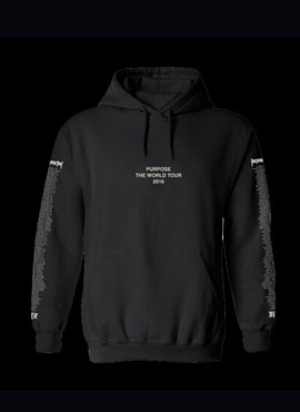 RD Purpose Tour Lettering Hoodie Black