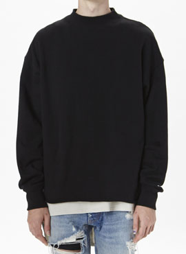 (Restock) RD F.Mock Neck T  Black