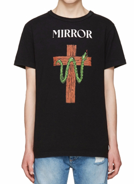 OW. Black Snake Mirror T-Shirt